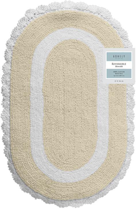 Oval Bathroom Rugs Chd Home Textiles Oval Crochet Bath Rug Ebay