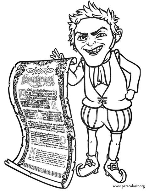 shrek rumpelstiltskin coloring page