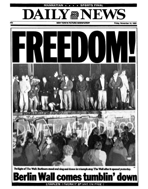 berlin wall newspaper the berlin wall was toppled 25 years ago ny daily news