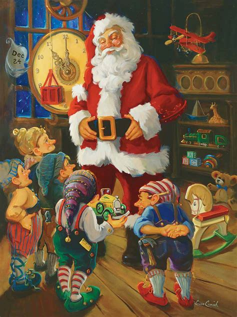 santa and his elves 550 puzzle white mountain puzzles