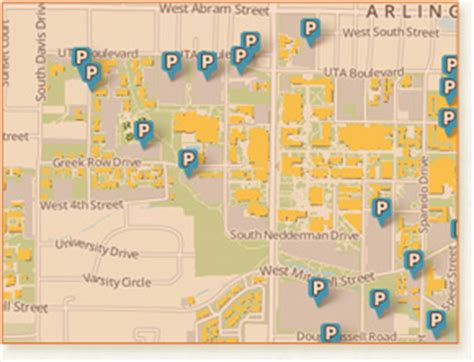 university of texas at arlington map parking and transportation services the university of texas at arlington