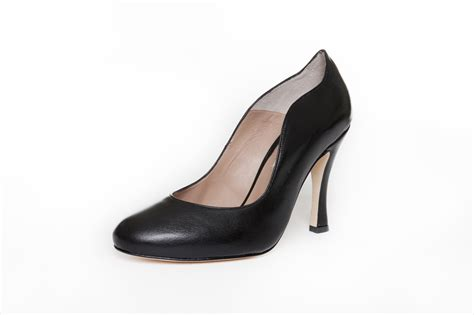 wide fit court shoe black leather