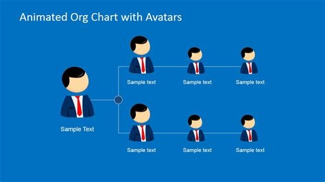 leadership cartoons for powerpoint presentations slidemodel animated org chart powerpoint template slidemodel
