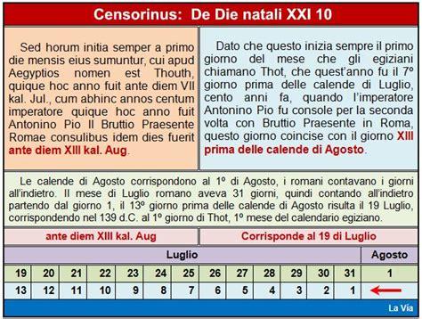 Calendario Giuliano Mos Dalla Nascita Al Sinai