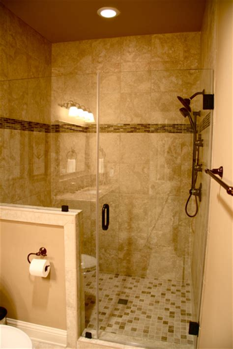 Bathroom With Half Wall by Bathrooms Baker Design