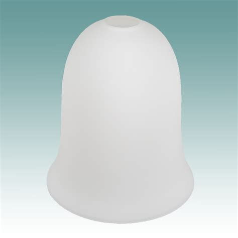 6704 white frosted neckless bell shade glass lshades