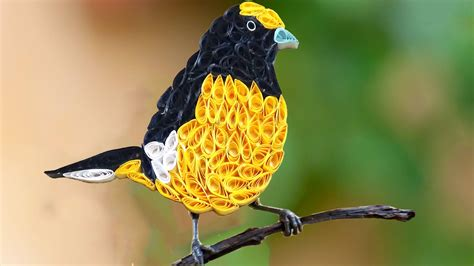 How To Make Paper Yellow - quilling birds how to make beautiful yellow quilled