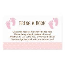 baby feet baby shower book request card zazzle