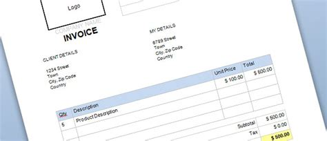 Free Commercial Invoice Template for Word   PowerPoint
