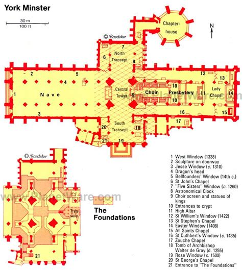 York Minster Floor Plan | exploring york minster a visitor s guide planetware