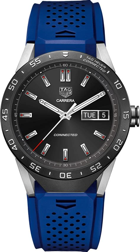 Smartwatch Rubber Blue tag heuer mens sar8a80 ft6058 connected smartwatch android