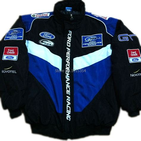 Hoodiesweater Ford Racing f1 automobile race clothing wrc work wear 14 ford emblem winter wadded jacket embroidery