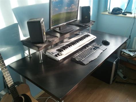 Cheapest Home Studio Desk Ever Ikea Hackers Standing Home Recording Studio Desk Ikea