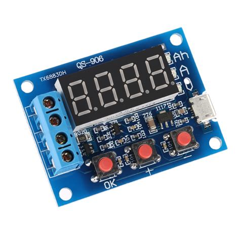 Battery Capacity Meter Discharge Tester 15v12v For 18650 Li Ion new battery tester module battery capacity meter discharge