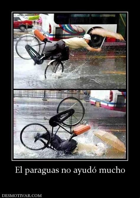 imagenes chistosas lloviendo anda en bicicleta est 225 lloviendo hay un charco se cae