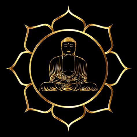 buddha and lotus clipart gold buddha lotus