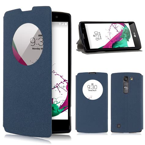 Flip Cover Mercury Lg Magna Circle View Window Leather Flip Stand Cover For