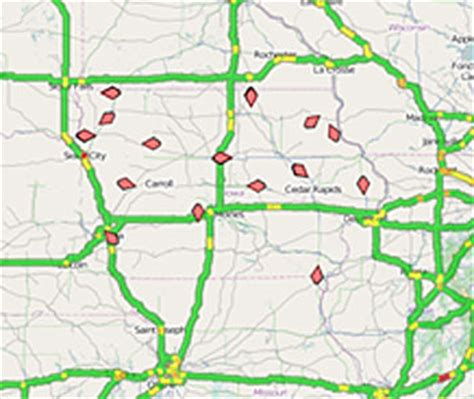 iowa road conditions color map more snowplow cameras featured in updated dot road