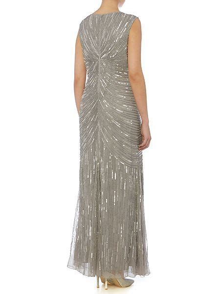 Liena Maxi linea sequin detail fishtail maxi dress house of fraser