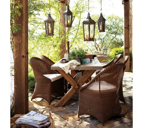 Pottery Barn Rustic Wicker Outdoor Furniture Interior Rustic Outdoor Patio Furniture