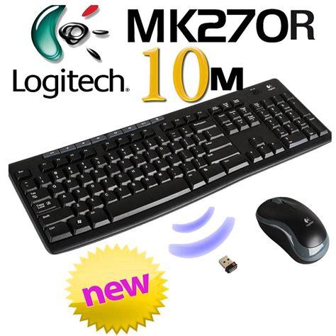Keyboard Mouse Logitech Mk270r Wireless Combo 1 logitech mk270r 2 4ghz wireless keyboard mouse combo 10m range desktop pc