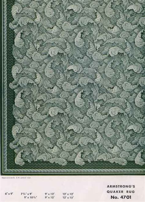 31 linoleum rugs from Armstrong, 1954   Retro Renovation