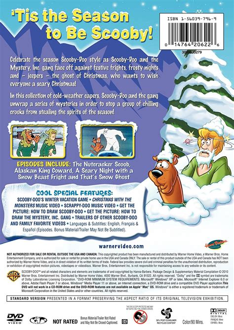 Wack A Doo Story Of The Day by Image Scooby Doo Winter Dvd Back Cover Jpg