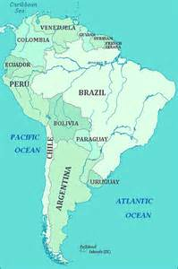 map south map of south america