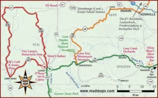hill country motorcycle rides map twisties the sportster and buell motorcycle forum