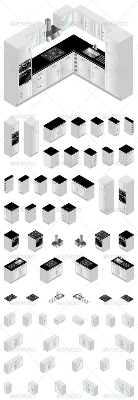 Kitchen Design Elements by Kitchen Design Elements Graphicriver