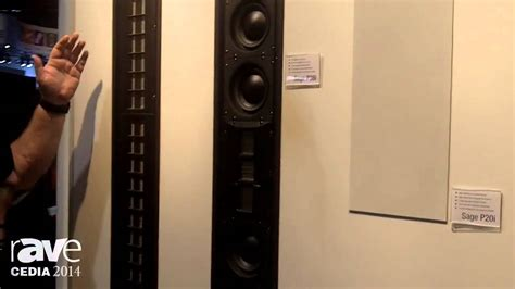 Speaker Wisdom cedia 2014 wisdom audio showcases series in wall speaker