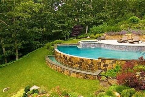 sloped backyard landscaping ideas sloped backyard pool landscaping ideas sloped back yard