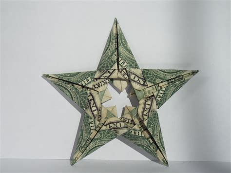 Five Dollar Bill Origami - dollar bill origami five pointed