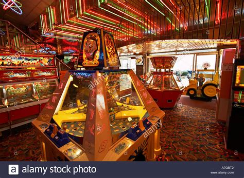80s fruit machines for sale amusement arcade interior with slot machines uk stock