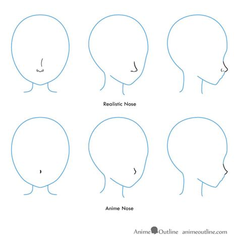 Anime Nose by How To Draw Anime And Noses Animeoutline