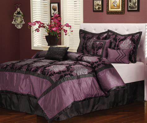 purple comforter set queen 7pcs queen naples purple comforter set