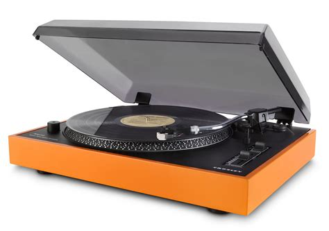 Orange Records Crosley Radio Car Interior Design