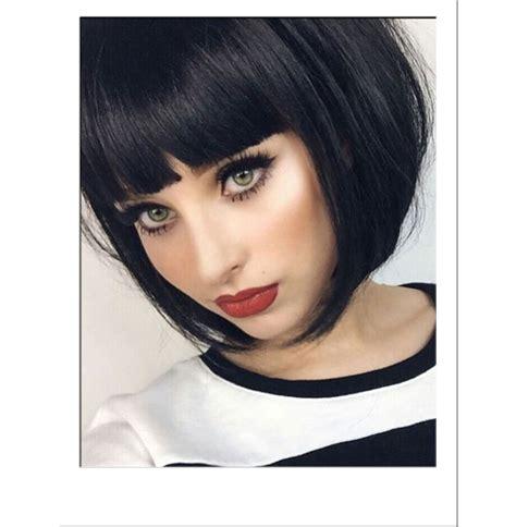 Wig Bob Premium Poni Sing black blunt bob wig fashion wigs style wigs
