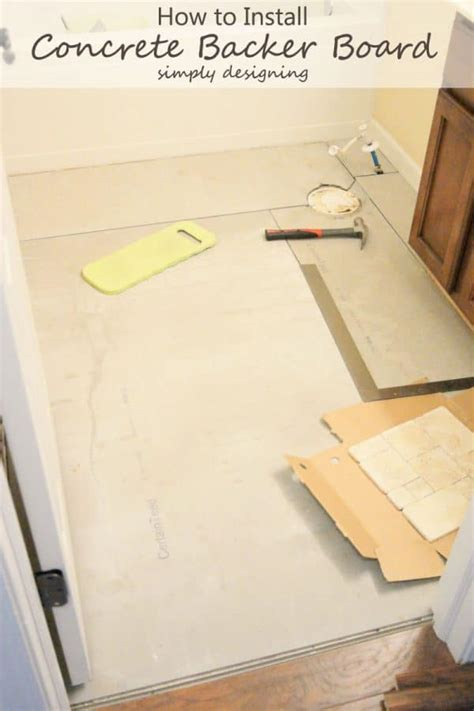 how to install cement board on bathroom floor how to install concrete backer board tile installation