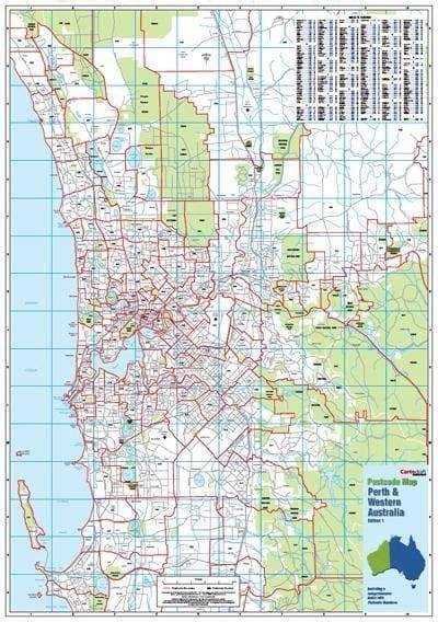 Designer Clocks by Western Australia Amp Perth Postcode Map Buy Postcode Map