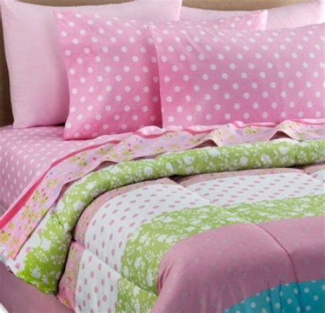 Bedcover Set 120x200x20cm Jaxine Polkadot Blue pink white green polka dot comforter set 8 bed in a bag