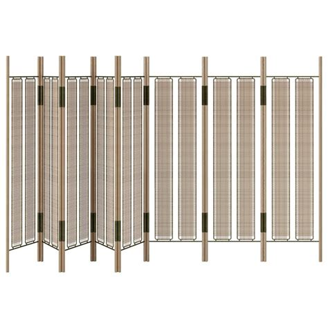 fold up screen room divider ca8p contemporary handcrafted 8 panel modern folding screen or room divider for sale at 1stdibs