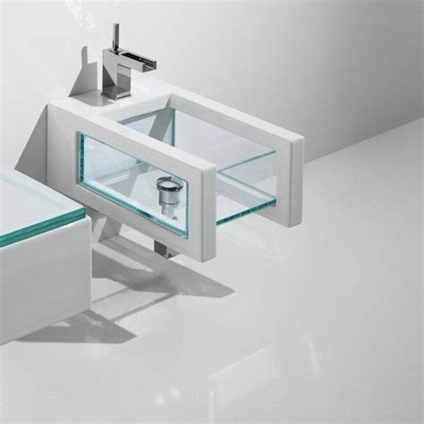 Bidet Suspendu by Bidet Suspendu Glass Blanc 52 X 34