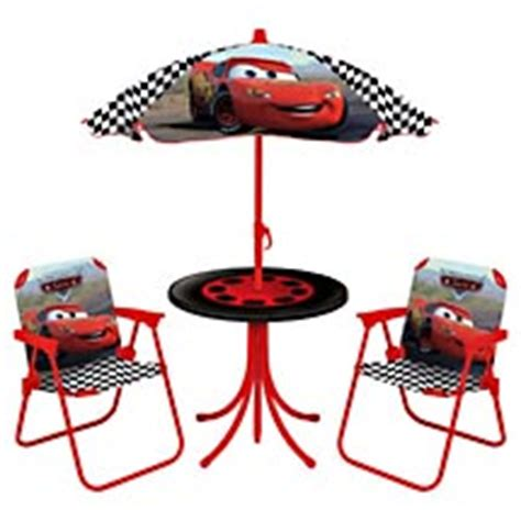 cars table and chairs with umbrella disney pixar cars lightning mcqueen patio set