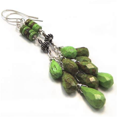 Handmade Earrings Australia - australian gaspeite sterling silver handmade earrings