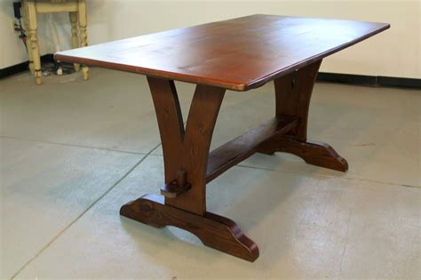 custom farm tables custom made vermont v trestle base farmhouse table by ecustomfinishes reclaimed wood furniture