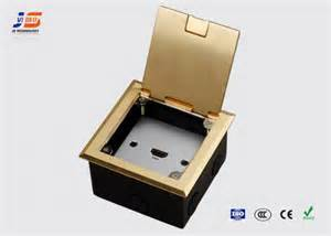 Recessed Floor Box by Multi Media Recessed Floor Box Network With Brushed