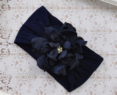 Headband Baby Flora Navy 6 baby flower headband save reg price