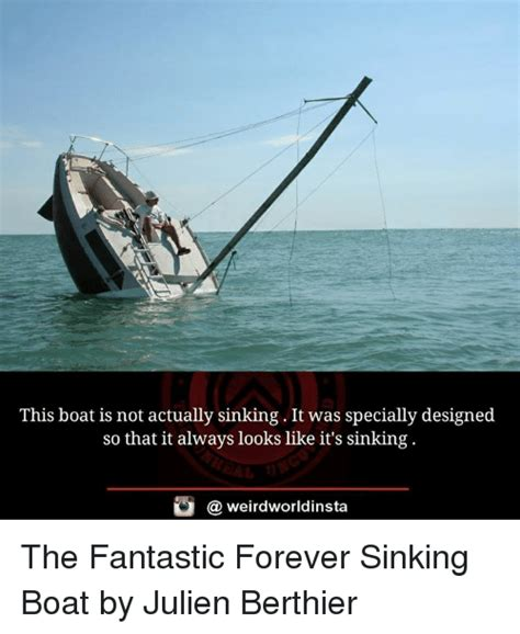 floating boat meme this boat is not actually sinking it was specially