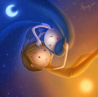 imagenes sol y luna enamorados el sol y la luna en equilibrio por shelly dressel